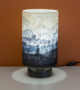 Original Ink Sketch Lamp Shade on a Stoneware Table Lamp