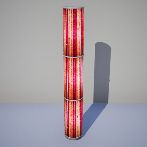 3 Panel Floor Lamp - P04 - Batik Stripes Pink, 20cm(d) x 1.4m(h)