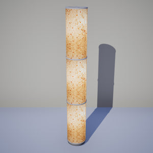 3 Panel Floor Lamp - P32 - Marigold Petals on Natural Lokta, 20cm(d) x 1.4m(h)