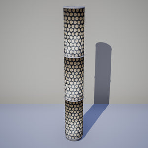 3 Panel Floor Lamp - P78 - Batik Dots on Grey, 20cm(d) x 1.4m(h)