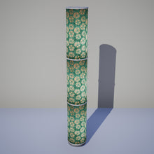 3 Panel Floor Lamp - P80 - Batik Star Flower Mint Green, 20cm(d) x 1.4m(h)