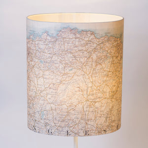 30cm x 35cm x 22cm Oval Lamp Shade - Casini Historical Map (1903 - 1910)