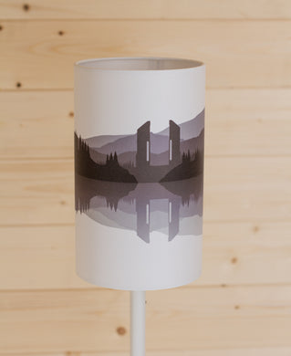 Landscape #2 Print (Drum Lamp Shade Only) - Grey