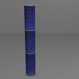 3 Panel Floor Lamp - B103 ~ Batik Tread Plate on Royal Blue, 20cm(d) x 1.4m(h)