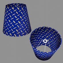 Conical Lamp Shade B103 ~ Batik Tread Plate on Royal Blue, 23cm(top) x 35cm(bottom) x 31cm(height)
