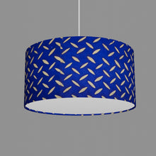 Drum Lamp Shade - B103 ~ Batik Tread Plate on Royal Blue, 40cm(d) x 20cm(h)