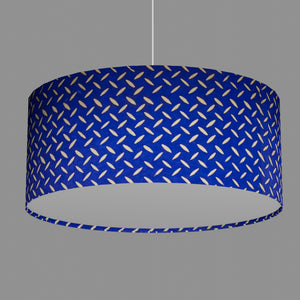 Drum Lamp Shade - B103 ~ Batik Tread Plate on Royal Blue, 70cm(d) x 30cm(h)