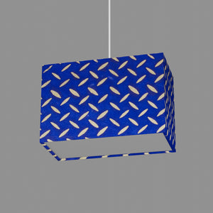 Rectangle Lamp Shade - B103 ~ Batik Tread Plate on Royal Blue, 30cm(w) x 20cm(h) x 15cm(d)