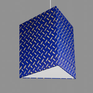 Triangle Lamp Shade - B103 ~ Batik Tread Plate on Royal Blue, 40cm(w) x 40cm(h)