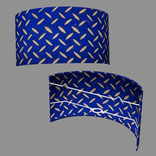 Wall Light - B103 ~ Batik Tread Plate on Royal Blue, 36cm(wide) x 20cm(h)