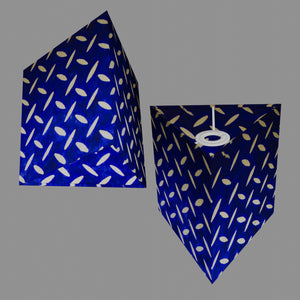 Triangle Lamp Shade - B103 ~ Batik Tread Plate on Royal Blue, 20cm(w) x 20cm(h)