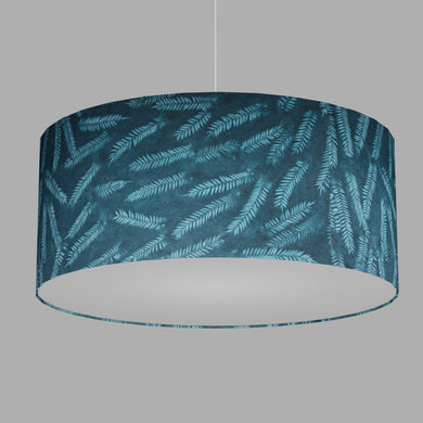Drum Lamp Shade - B106 ~ Resistance Dyed Teal Fern, 70cm(d) x 30cm(h)