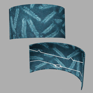 Wall Light - B106 ~ Resistance Dyed Teal Fern, 36cm(wide) x 20cm(h)