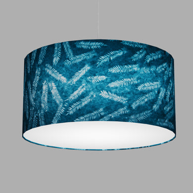 Drum Lamp Shade - B106 ~ Resistance Dyed Teal Fern, 60cm(d) x 30cm(h)