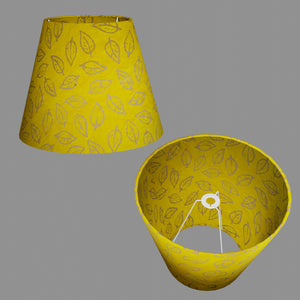 Conical Lamp Shade B107 ~ Batik Leaf Yellow, 23cm(top) x 40cm(bottom) x 31cm(height)