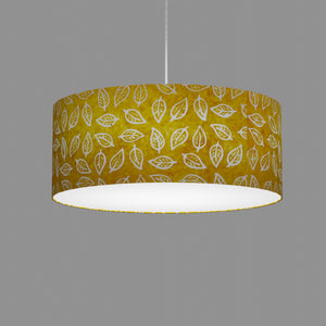 Drum Lamp Shade - B107 ~ Batik Leaf Yellow, 50cm(d) x 20cm(h)