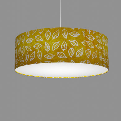 Drum Lamp Shade - B107 ~ Batik Leaf Yellow, 60cm(d) x 20cm(h)