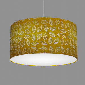Drum Lamp Shade - B107 ~ Batik Leaf Yellow, 60cm(d) x 30cm(h)