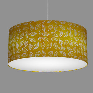 Drum Lamp Shade - B107 ~ Batik Leaf Yellow, 70cm(d) x 30cm(h)
