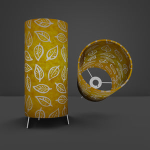 Free-Standing Table Lamp Small - B107 ~ Batik Leaf Yellow