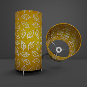 Free-Standing Table Lamp Large - B107 ~ Batik Leaf Yellow