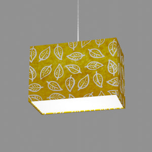 Rectangle Lamp Shade - B107 ~ Batik Leaf Yellow, 30cm(w) x 20cm(h) x 15cm(d)