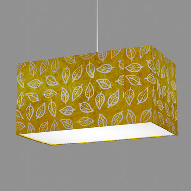 Rectangle Lamp Shade - B107 ~ Batik Leaf Yellow, 50cm(w) x 25cm(h) x 25cm(d)
