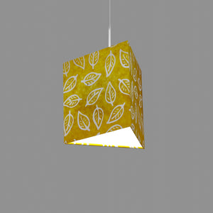 Triangle Lamp Shade - B107 ~ Batik Leaf Yellow, 20cm(w) x 20cm(h)