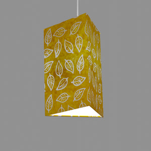 Triangle Lamp Shade - B107 ~ Batik Leaf Yellow, 20cm(w) x 30cm(h)