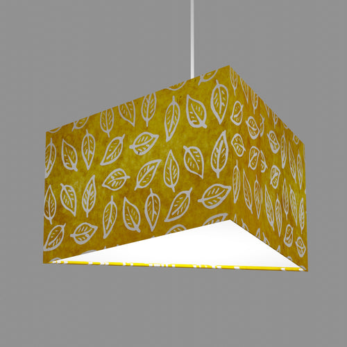 Triangle Lamp Shade - B107 ~ Batik Leaf Yellow, 40cm(w) x 20cm(h)