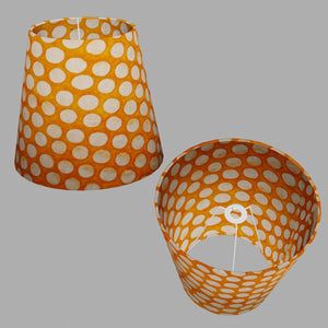 Conical Lamp Shade B110 ~ Batik Dots on Orange, 23cm(top) x 35cm(bottom) x 31cm(height)