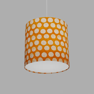Drum Lamp Shade - B110 ~ Batik Dots on Orange, 25cm x 25cm