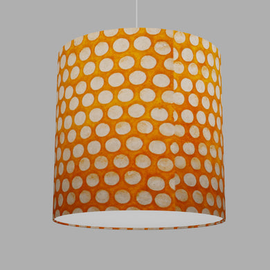 Drum Lamp Shade - B110 ~ Batik Dots on Orange, 40cm(d) x 40cm(h)