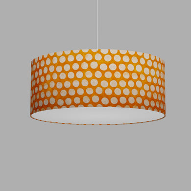 Drum Lamp Shade - B110 ~ Batik Dots on Orange, 50cm(d) x 20cm(h)
