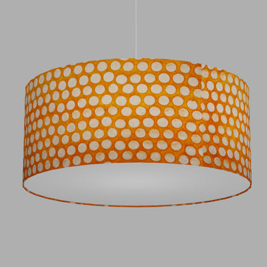 Drum Lamp Shade - B110 ~ Batik Dots on Orange, 70cm(d) x 30cm(h)