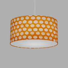 Oval Lamp Shade - B110 ~ Batik Dots on Orange, 40cm(w) x 20cm(h) x 30cm(d)