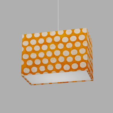 Rectangle Lamp Shade - B110 ~ Batik Dots on Orange, 30cm(w) x 20cm(h) x 15cm(d)