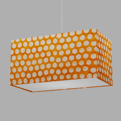 Rectangle Lamp Shade - B110 ~ Batik Dots on Orange, 50cm(w) x 25cm(h) x 25cm(d)