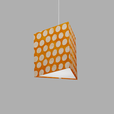Triangle Lamp Shade - B110 ~ Batik Dots on Orange, 20cm(w) x 20cm(h)