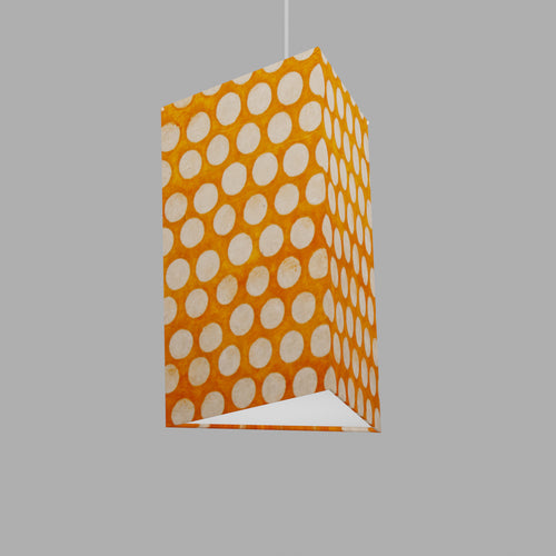 Triangle Lamp Shade - B110 ~ Batik Dots on Orange, 20cm(w) x 30cm(h)