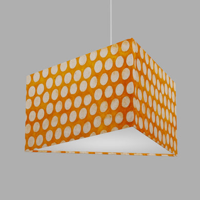Triangle Lamp Shade - B110 ~ Batik Dots on Orange, 40cm(w) x 20cm(h)