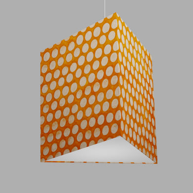 Triangle Lamp Shade - B110 ~ Batik Dots on Orange, 40cm(w) x 40cm(h)