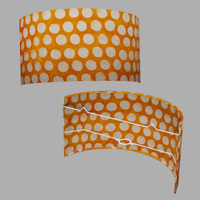 Wall Light - B110 ~ Batik Dots on Orange, 36cm(wide) x 20cm(h)
