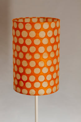 Drum Lamp Shade - B110 ~ Batik Dots on Orange, 20cm(diameter)