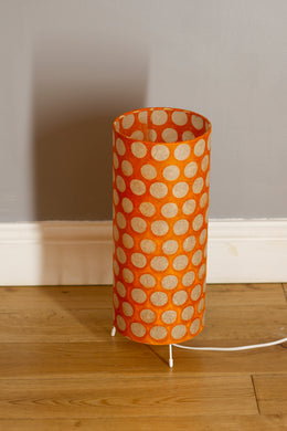 Free-Standing Table Lamp Small - B110 ~ Batik Dots on Orange