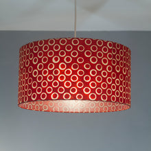 Square Lamp Shade - P83 ~ Batik Red Circles, 40cm(w) x 40cm(h) x 40cm(d)