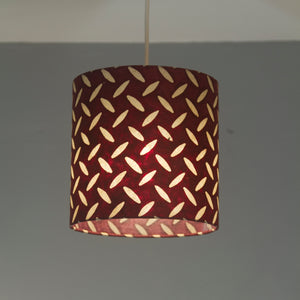 Rectangle Lamp Shade - P14 - Batik Tread Plate Cranberry, 30cm(w) x 30cm(h) x 15cm(d)