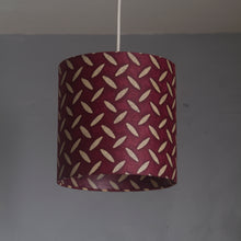 Triangle Lamp Shade - P14 - Batik Tread Plate Cranberry, 20cm(w) x 20cm(h)