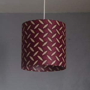 Drum Lamp Shade - P14 - Batik Tread Plate Cranberry, 15cm(d) x 15cm(h)