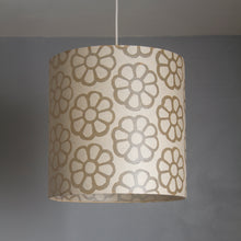 Triangle Lamp Shade - P17 - Batik Big Flower on Natural, 20cm(w) x 30cm(h)